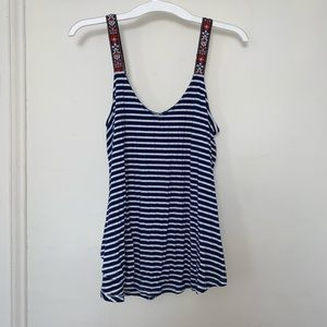 Navy and White Stripped Tank